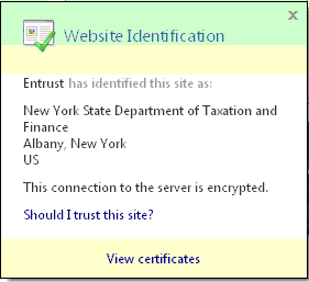 Example of an Entrust certificate