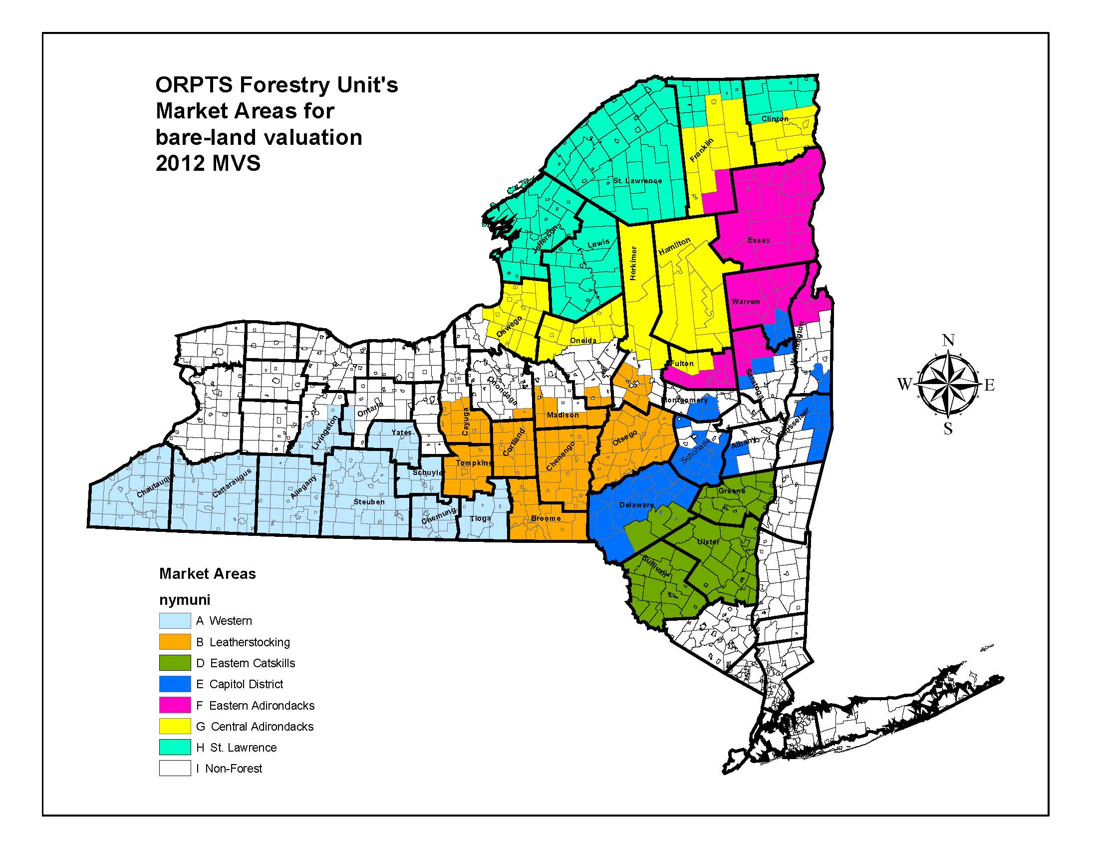Forestry39s Bare Land Valuation Map