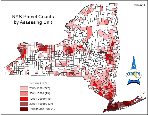 NYS Parcel Counts by Assessing Units