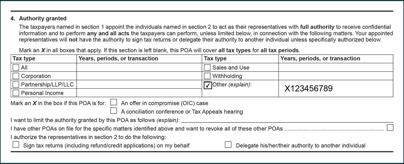 audit case number listed under years, periods, or transactions column