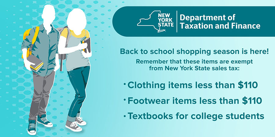 back to school tax free weekend new york