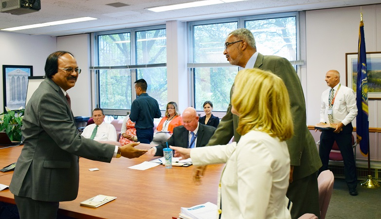 tax officials from Bangladesh recently met with NY Tax divisional managers
