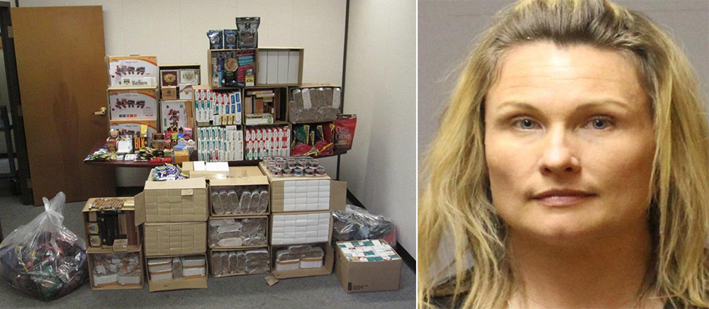 tobacco products seized & Shelley C. Wright arrested