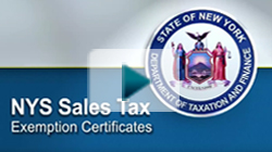 NYS Sales Tax Exemption Certificates