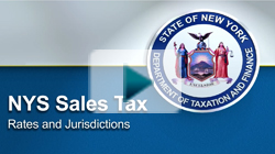 NYS Sales Tax Rates and Jurisdictions