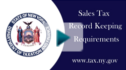Sales Tax Record Keeping Requirements
