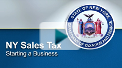 NYS Sales Tax Starting a Business
