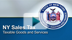 NYS Sales Tax Goods and Services