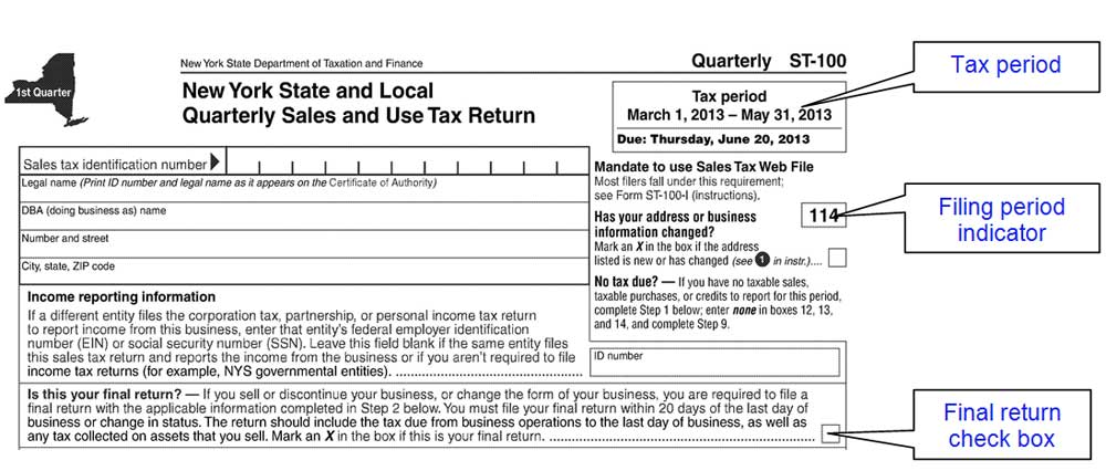 filing a final sales tax return